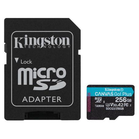 Mémoire Micro SDXC 256Go Kingston Canvas Go Plus A2/V30/UHS-I U3 MEMMSD256_K_SDCG3 - 1