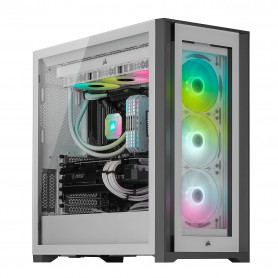 Boitier Corsair iCUE 5000X RGB Tempered Blanc ATX USB 3.1 Type C BTCO5000X-RGB-WH - 2