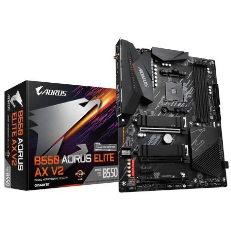 Carte Mère Gigabyte B550 AORUS ELITE AX V2 ATX AM4 DDR4 USB3.2 M.2 DP