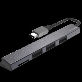 HUB Advance HUB-C3U2C Type-C 3 Ports USB 2.0 + MicroSD HUBADHUB-C3U2C - 2
