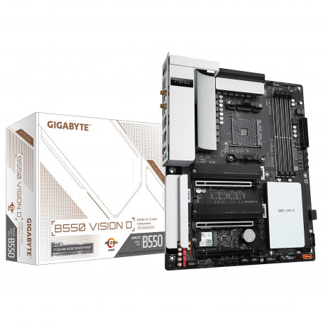 Carte Mère Gigabyte B550 VISION D ATX AM4 DDR4 USB3.2 M.2 WIFI CMGB550-VISION-D - 1