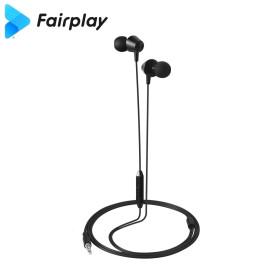 Ecouteurs avec micro Fairplay AURORA Noir Jack 3.5mm 1.2m