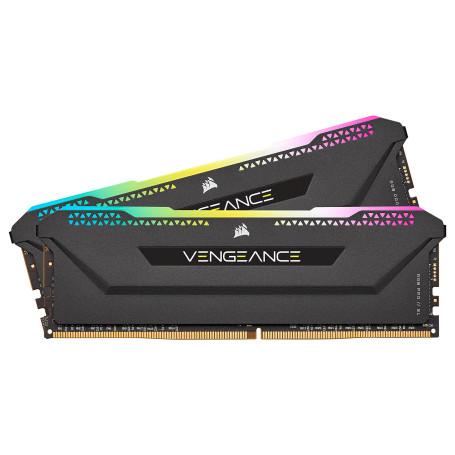 DDR4 Corsair Vengeance RGB PRO SL Kit 16Go 2x8Go 3200Mhz CL16 Noir DDR4_16_CO_6632009 - 2