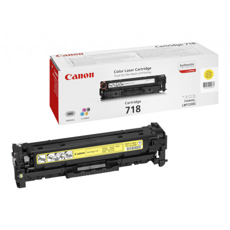 Toner Canon 718 Yellow 2900 pages 7200/7210/7660/7680/MF83**
