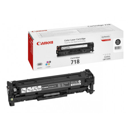 Toner Canon 718 Black 3400 pages 7200/7210/7660/7680/MF83**