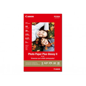 20 x Canon Photo Paper Plus Glossy II PP-201 A4 210x297mm 275g/m2 RAMCAPP201-A4 - 1