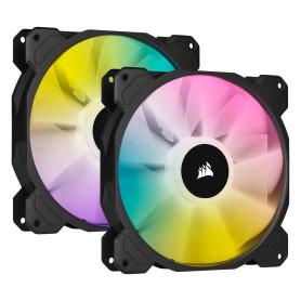 Ventilateur Corsair iCUE SP140 RGB ELITE Dual Pack 140 mm VENCOSP140RGBE-X2 - 1