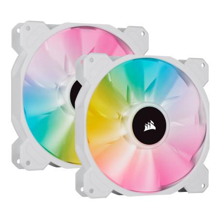 Ventilateur Corsair iCUE SP140 RGB ELITE Blanc Dual Pack 140 mm VENCOSP140RGBE-W-2 - 2
