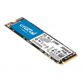 SSD 2To Crucial P2 M.2 NVMe PCIe Type 2280 2400Mo/s 1900Mo/s SSD2T_C_P2-M2 - 1