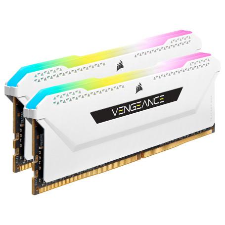 DDR4 Corsair Vengeance RGB PRO SL Kit 16Go 2x8Go 3200Mhz CL16 Blanc DDR4_16_CO_6632016 - 2