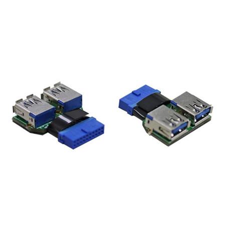 Adaptateur Lian Li UC-01 USB 3.0 20 broches vers USB 3.0 type A ADUSB-LL-UC-01 - 1