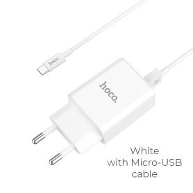 Chargeur hoco. C62A USB 5V 2.41 + Câble Micro USB 1M ALIMUSB_HOC62A-MUS - 1