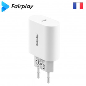 Alimentation Secteur 220V vers USB-C PD 18W Fairplay MONZA ALIMUSBFP-MNZ-01 - 1