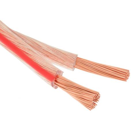 Câble pour Haut-Parleur Hifi 2x2,5mm2 transparent cuivre au Mètre