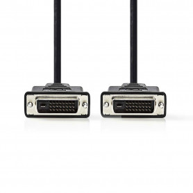 Cable DVI-D 24+1 Dual Link M/M 5M Blindé CADVI5M - 1