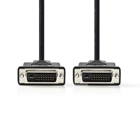 Cable DVI-D 24+1 Dual Link M/M 5M Blindé
