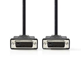 Cable DVI-D 24+1 Dual Link M/M 2M Blindé CADVI2M - 1