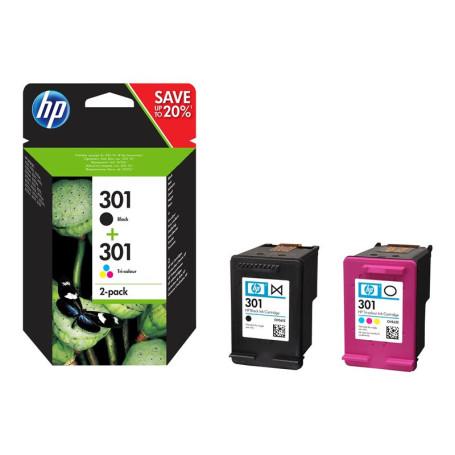 Pack Cartouche HP 301 Noir + Couleur N9J72AE