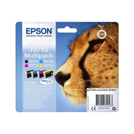 Cartouche Epson T0715 Noir + 3 Couleurs DX4050/5050/6050 SX510W/600