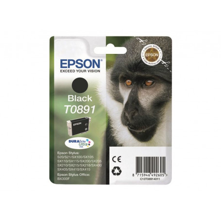 Cartouche Epson T0891 Noir SX105/110/205/400