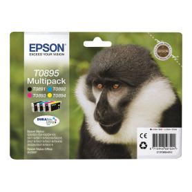 Cartouche Epson T0895 Noir + 3 Couleurs SX105/110/205/400 CARTEPT0895 - 1