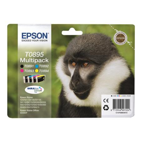 Cartouche Epson T0895 Noir + 3 Couleurs SX105/110/205/400