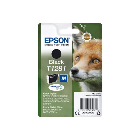 Cartouche Epson T1281 Noir SX125/420W/425W/S22/BX305