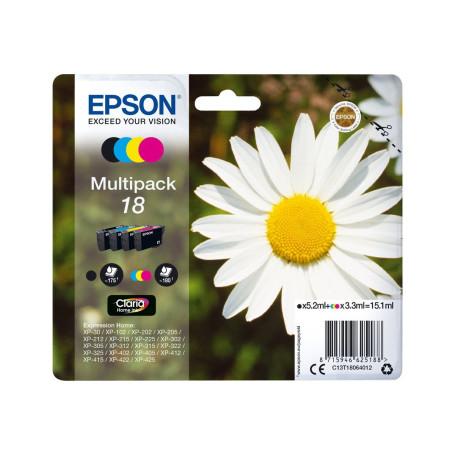 Cartouche Epson T1806 Noir + 3 Couleurs XP-102/212/215/30/305/312/315