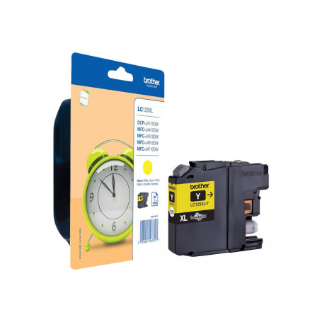 Cartouche Brother LC125XLY Yellow 1200 pages
