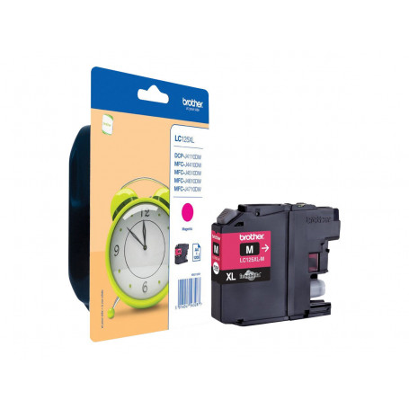 Cartouche Brother LC125XLM Magenta 1200 pages