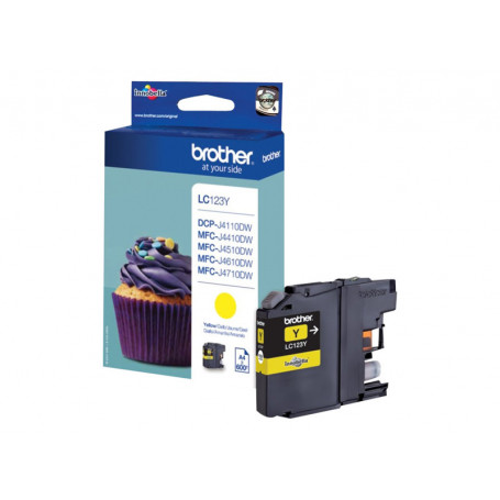Cartouche Brother LC123Y Yellow 600 pages