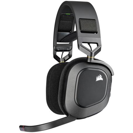Casque Corsair HS80 RGB WIRELESS Gaming Premium Carbone - 1