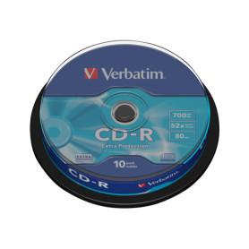 CD-R Verbatim 52x 700 Mo Spindle de 10 (Réf:43437)
