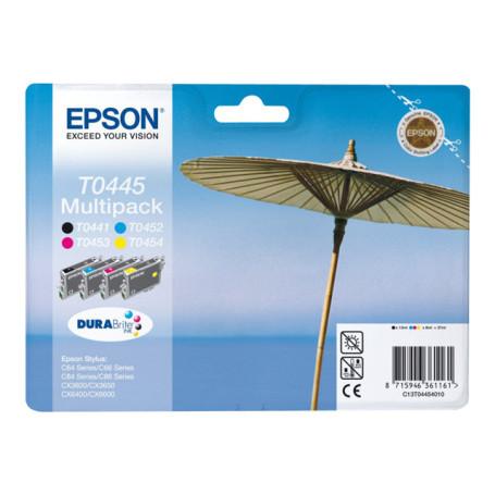 Cartouche Epson T0445 1 x Noir et 3 Couleurs