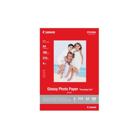 100 x Canon Glossy Photo Paper GP-501 A4 210x297mm 210g/m2