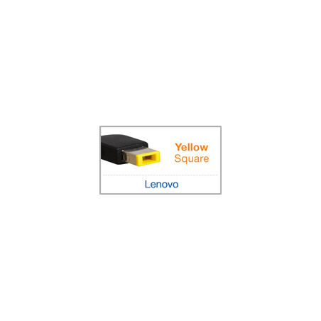 Chargeur compatible Lenovo 20V 4.5A 90W embout SQUARE jaune