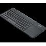 Clavier Logitech Wireless TouchPad Keyboard K400 Plus Noir