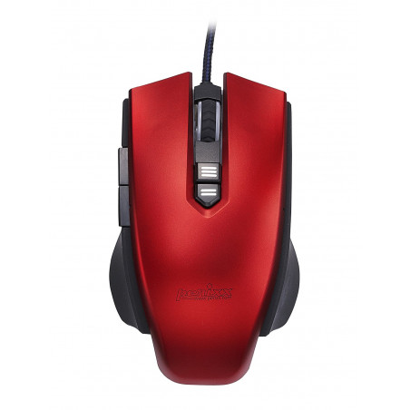 Souris Perixx MX-1800 RED 4000dpi USB Gamer 7 boutons