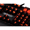 Clavier QPAD 3202M MK-85 LED Rouge MX Brown Pro Gaming Mécanique