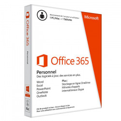 Microsoft Office 365 Personnel 1 PC ou MAC (PKC) Abonnement 1 an