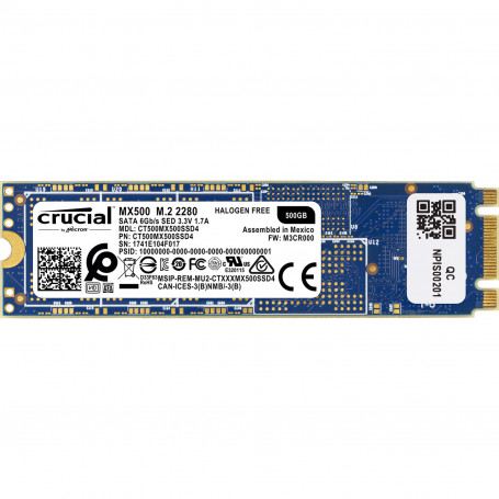 SSD 500Go Crucial MX500 M.2 Type 2280 560Mo/s 510Mo/s 3D TLC