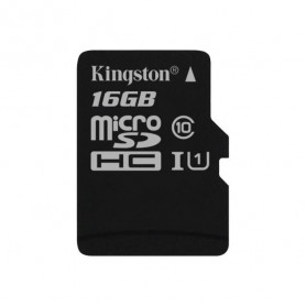 Mémoire Micro SDHC 16Go Kingston Canvas Select Class 10 UHS-I U1