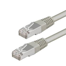 Cable Réseaux RJ45 50cm Droit Cat6A S/FTP Blindé Gris