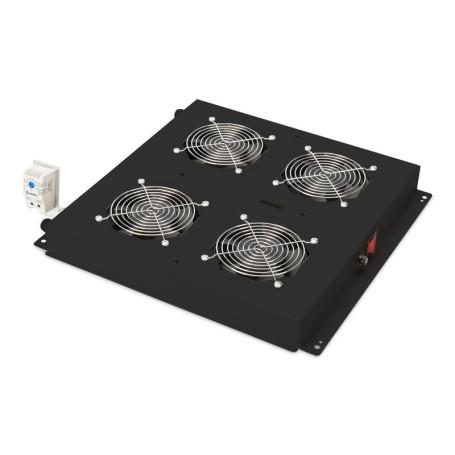 """Unité de Ventilation 19"""" Digitus 4 ventilateurs Noir"""