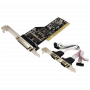 Carte PCI LogiLink PC0018 2 x DB9 + 1 x DB25 (RS232)