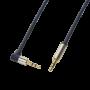 Cable Audio Jack 3.5mm Male/Male coudé 50cm LogiLink CA11050