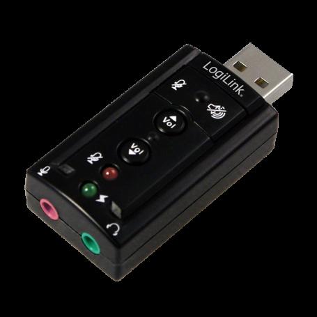 Carte Son Externe USB 2.0 LogiLink 7.1 UA0078 2x entrées 3.5mm