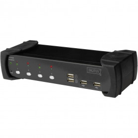 Switch KVM Digitus DS-12840 4 Pc DVI + Audio + Hub USB 2.0