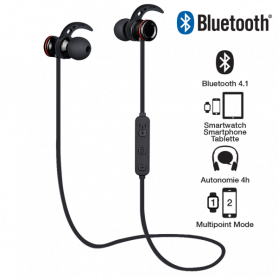 Ecouteurs Sport Bluetooth Campus Liberty'Fit MIC-BT02P 4H