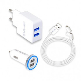 Campus CH-CT21UW Chargeur Universel micro USB et Apple Lightning 2.1A